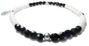 The Monopop Sterling Silver and Faceted Czech Bracelet By Jacy & Jools