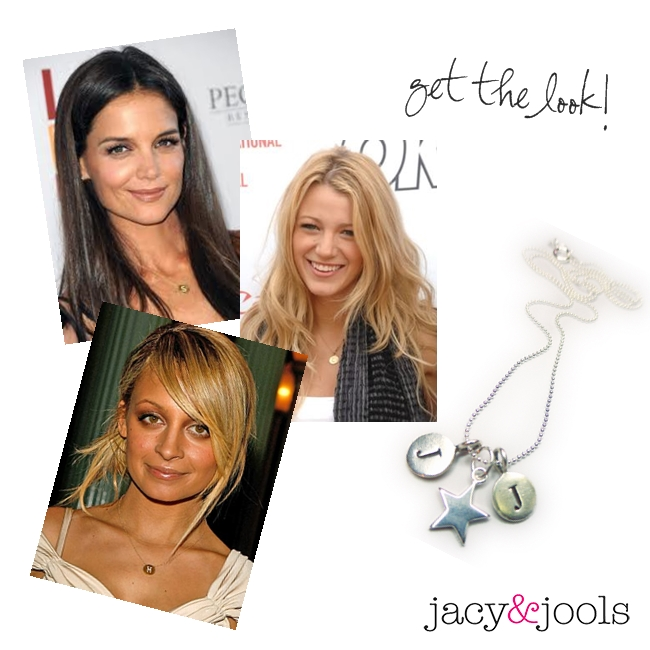 Get The Initial Necklace Look from Jacy & Jools