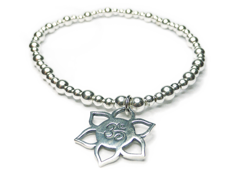 Mixed Ball Lotus Ohm Bracelet