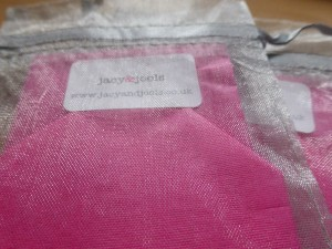 Prettily Packaged Jacy & Jools Jewellery in Pink and Silver