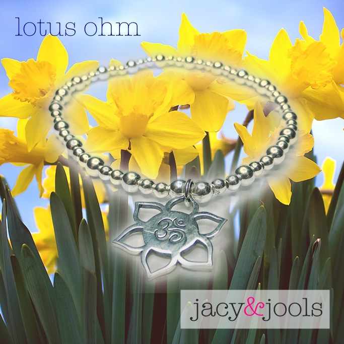 Sterling Silver Lotus Ohm Charm from Jacy & Jools Summer Collection