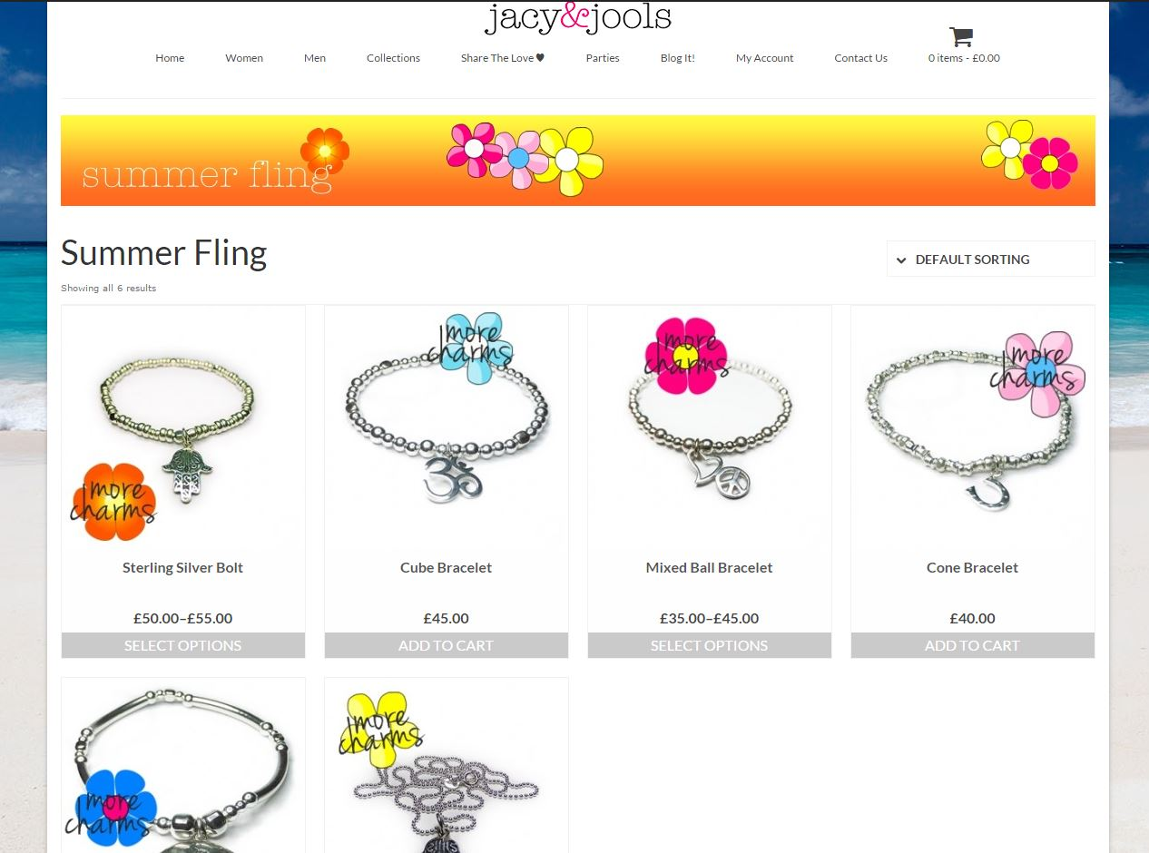 Summer Fling Collection on the Jacy & Jools Website