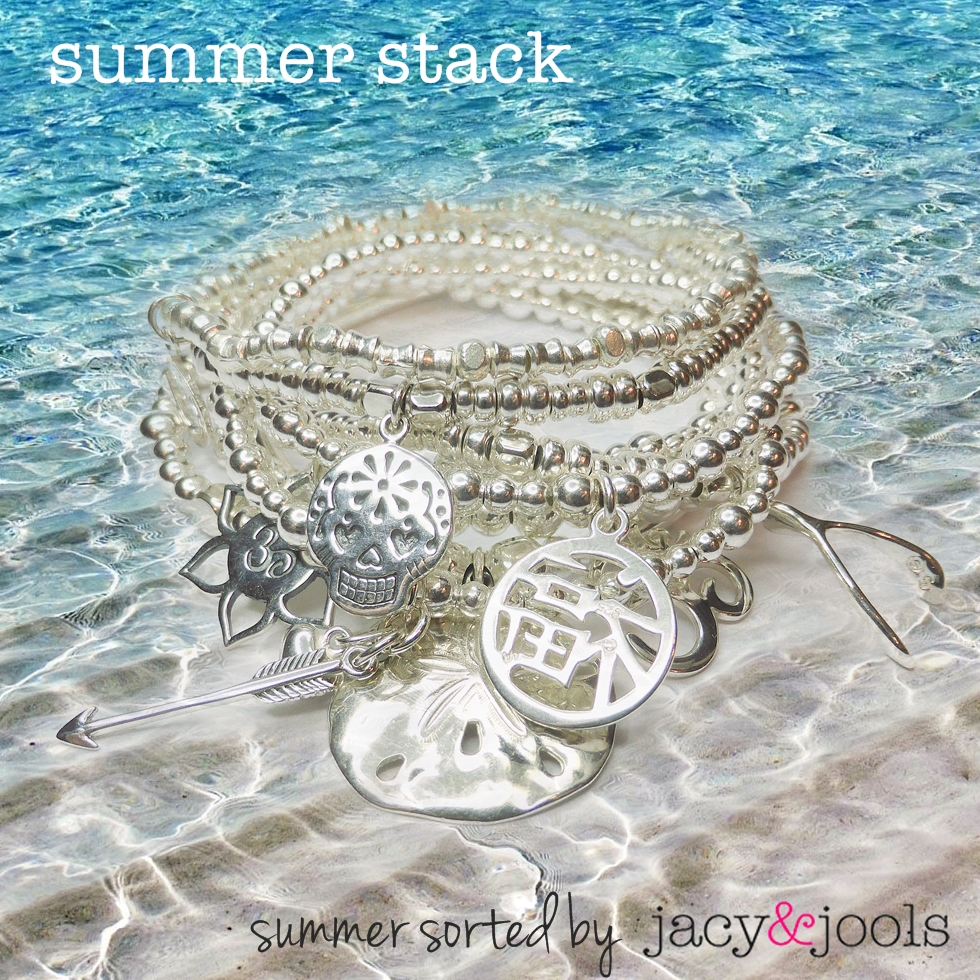 Sterling Silver Stack from Jacy & Jools Summer Bracelet Collection