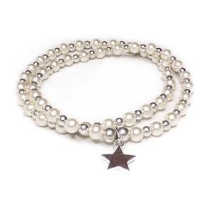 Swarovski Pearl and Sterling Silver Bracelet Duo