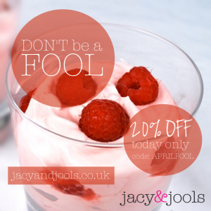 April Fool Offer by Jacy & Jools  Jewellery in Cheshire