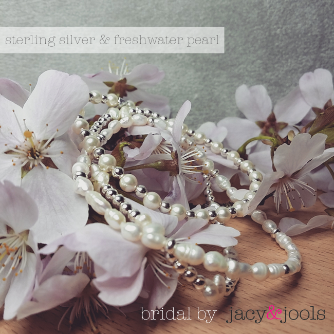 Sterling Silver and Pearl Wedding Jewellery by Jacy & Jools in Cheshire