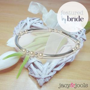 jacy & Jools Pearl Noodle Bracelet Featured By Bride Magazine