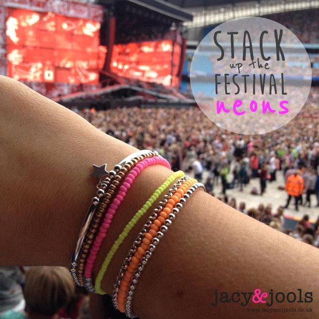 Stack Up The Festival Neons and Sterlling Silver from Jacy & Jools