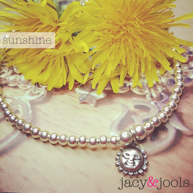 Sterling Silver Ball Bracelet with Sun Charm from Jacy & Jools Jewellery