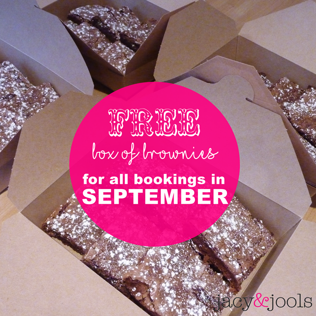 Delicious Chocolate Brownies  For Your Jacy & Jools Jewellery Party