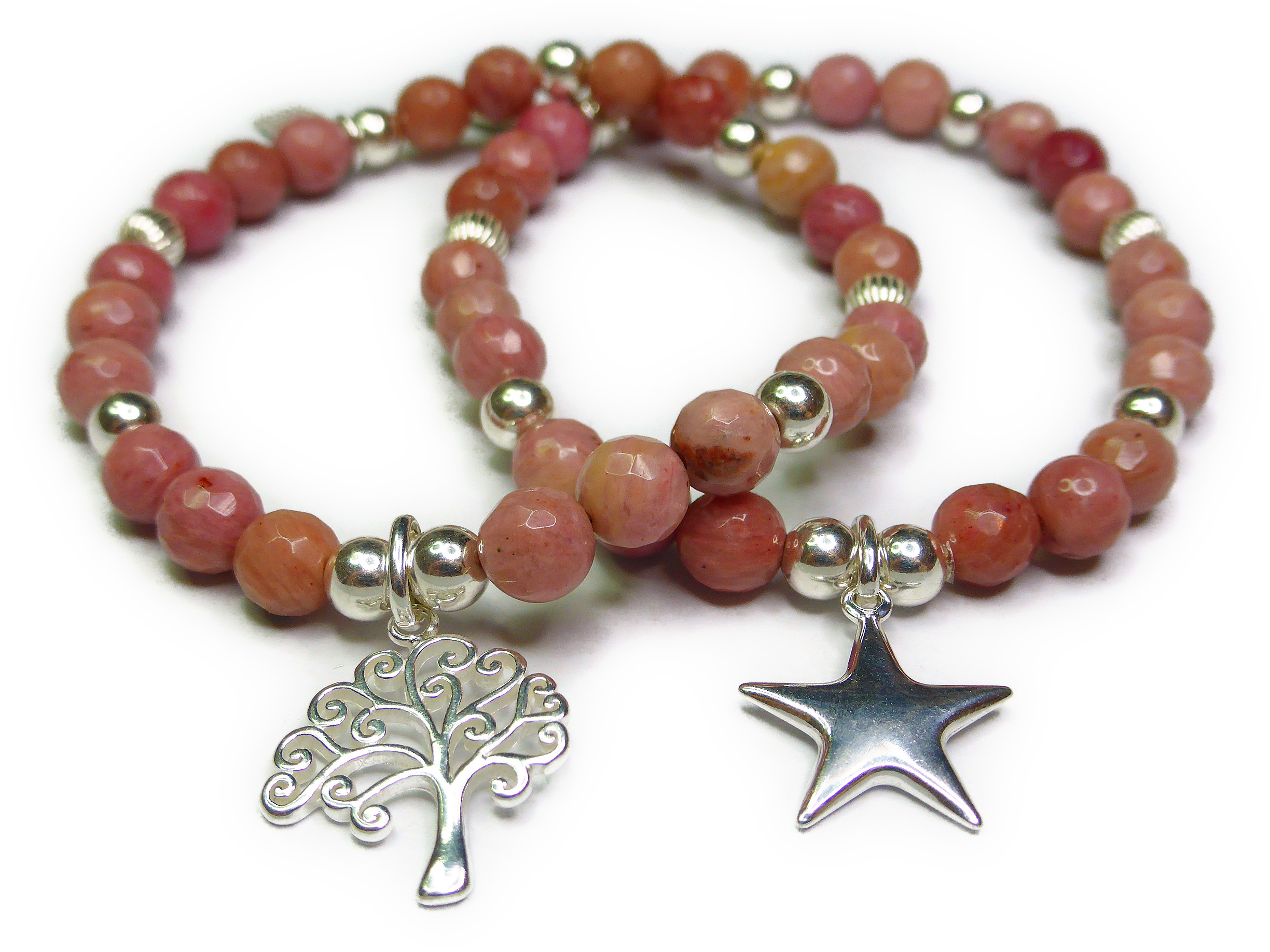 Rhodonite Bracelets from the Moonstorm Collection by Jacy & Jools
