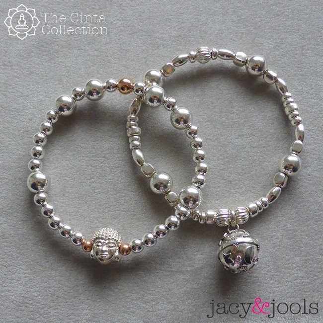 Dream Ball and Buddha Bracelet from the Cinta Collection by Jacy & Jools