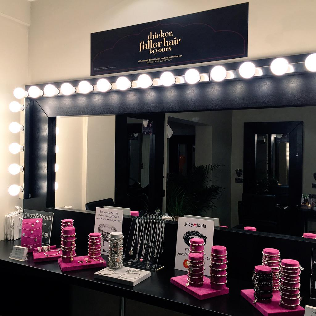 Jacy & Jools Set Up at the Nicholas Austen Make-up Bar